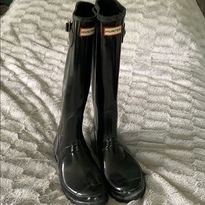 Hunter Shoes - Hunter black gloss rainboots